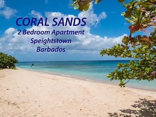 Coral Sands beachfront apt., Barbados, stunning West Coast