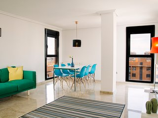 Luxury flat with views of Arts+Sciences, PARKING + BIKES