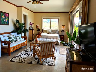 Mana Kai at Kohala Ranch Luxury Ohana Studio, breathtaking panoramic ocean views