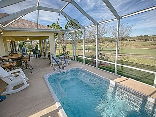 Take a dip in the pool overlooking the golf course and lakes. FREE golf cart.