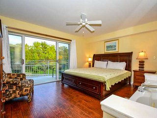 Master King Suite has tons of amenities to ensure you will stay in comfort!