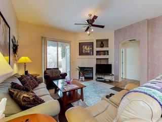 Dog-friendly & professionally decorated townhome with a shared pool and hot tub!