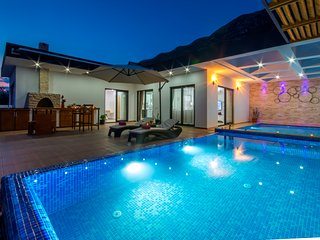 Luxury Honeymoon  Villa with Heated Indoor Pool, Jacuzi & Secluded Infinity Pool