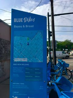 Blue Bikes map on bayou rd undoubtably the best biking way to get around and explore this city!