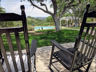 A stunning 30 acre estate in wine country.  Pool, tennis court, and sunset views