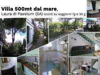 Villa Margherita, a 500m dal mare. Laura di Paestum