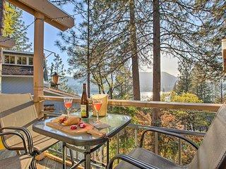 Custom Bass Lake House w/ Water Views & Boat Slip!