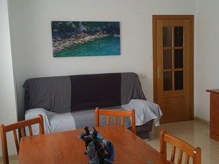 Sala de estar con el sofá cama de dos plazas