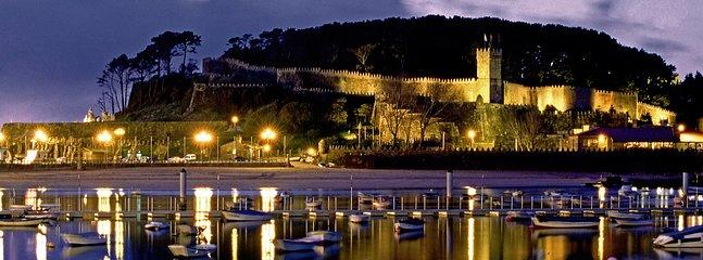 Vue de nuit Parador Baiona