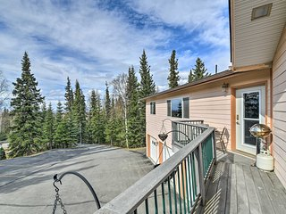 Hillside Anchorage Home by Hiking & Biking Trails!