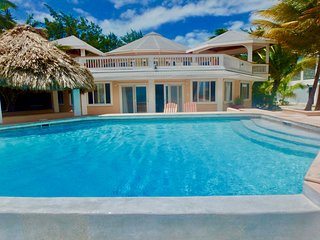Fabulous 8BR beachfront home, private pool, amazing Caribbean views!