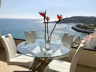 Terrace above the beach with a spectacular view of the sea