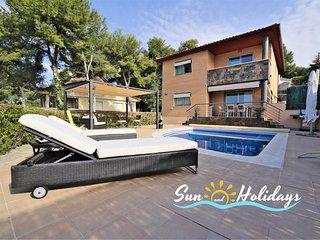 Villa de lujo con piscina privada a 700m de la playa  para 8 personas