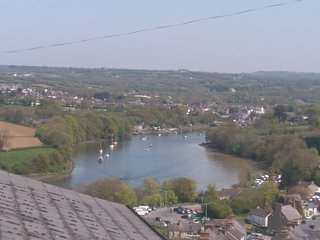 The stuuning view from the cottage of the teifi estuary