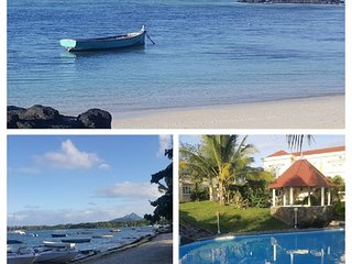 Azure villa offers beachfront air condition accommodation with a sea view.