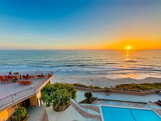 Amazing Beach Front Home, Deck w/ Pool & Ocean Views