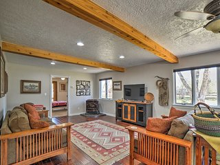 NEW! Spacious Mancos Home w/ Deck on Creek & Pond!