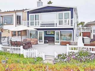 Oceanfront, family & dog-friendly home with private hot tub, right on the beach!