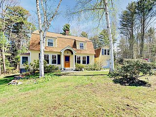 3BR Storybook Gambrel Home on Half Acre Near Dock Square—Walk to Restaurants