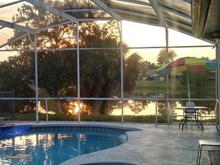 Lakefront poolside adjoining GuestSuite 2 bedroom 1 private bathroom.