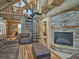 NEW! Custom Log Cabin on 45 Acres by Pine River!