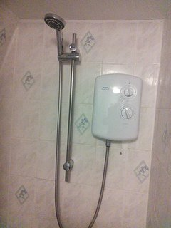 newly installed electric shower