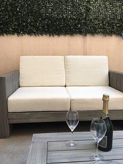 Canapé du salon de jardin....