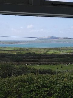 View from bedroom 1 of smerwick harbour and the sleeping giant.