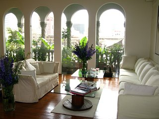 Stylish 2BR penthouse, views, historic center