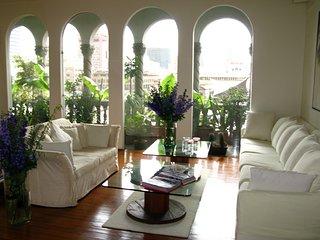 Stylish 2BR penthouse, views, historic center