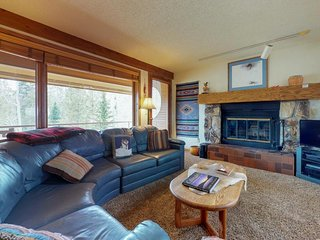 NEW LISTING! Mountain-view family condo with jetted tub & wood-burning fireplace