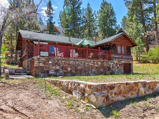 Rustic, dog-friendly home with lake views near swimming, ski resorts, and town