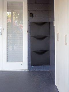 Key Lock Box at Front Entry Door above Shoe Box