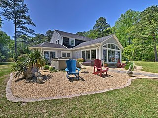 NEW! Riverfront Blounts Creek Home w/ Private Dock