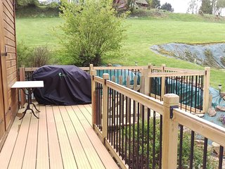 BBQ area and side decking