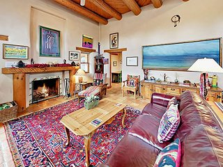 Spacious Retreat with Private Adobe Courtyard | Walk to Taos Plaza