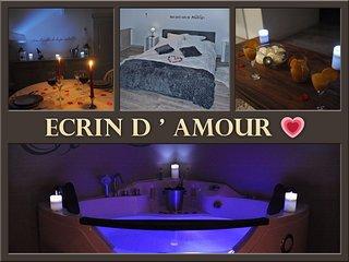Ecrin d' Amour, cocon de 110 m², rien que pour vous avec Jacuzzi.