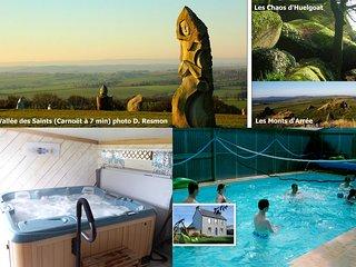 Gîte de KERPIRIT avec SPA & piscine couverte et chauffée
