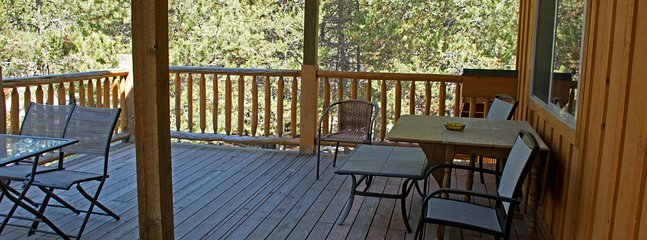 Another view of large deck off of Treetop bedroom.