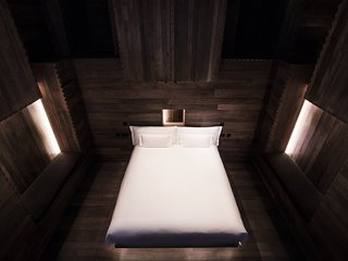 Unique 3 storey high wood-clad bedroom by world-famous artist Sir Antony Gormley