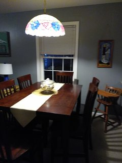 Dining room high chair is also available