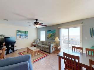 Contemporary, dog-friendly condo w/ balcony, shared pool - walk to beach!
