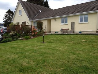 2 bedroom bungalow with stunning views near Glasbury and Hay on Wye