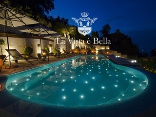 'LA VISTA E BELLA ESTATE' NEAR ACHILLEION PALACE -SEAFRONT PRIVATE RESORT-