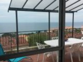 16 m2 terrace - View on the south shore of the Gulf of Ajaccio and Bloody Islands