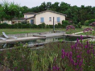 Location avec piscine naturelle dans les bois