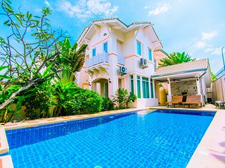 ☀ 4BR Pool Villa, Beachfront, Free WIFI ☀ house A