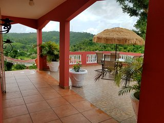 Watch the sun rise with your coffee on this large private patio. 2 hammocks w/view to ocean & valley