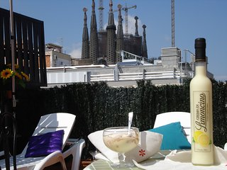 Sagrada Familia Flat Terrace Parking