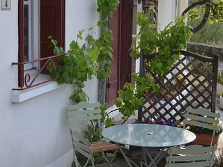 or wine and canapes on the terrace